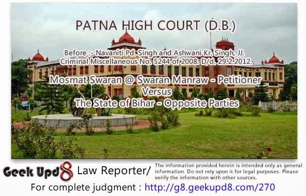 Patna High Court - Section 379 - Electricity theft - Electricity being not considered to be a movable property, there cannot be theft thereof within the meaning of Section 379 IPC - It is a theft as statutorily defined under Section 39/44 of the Electricity Act, 1910 and Section 379 IPC is referred only for the purposes of punishment that is to be awarded