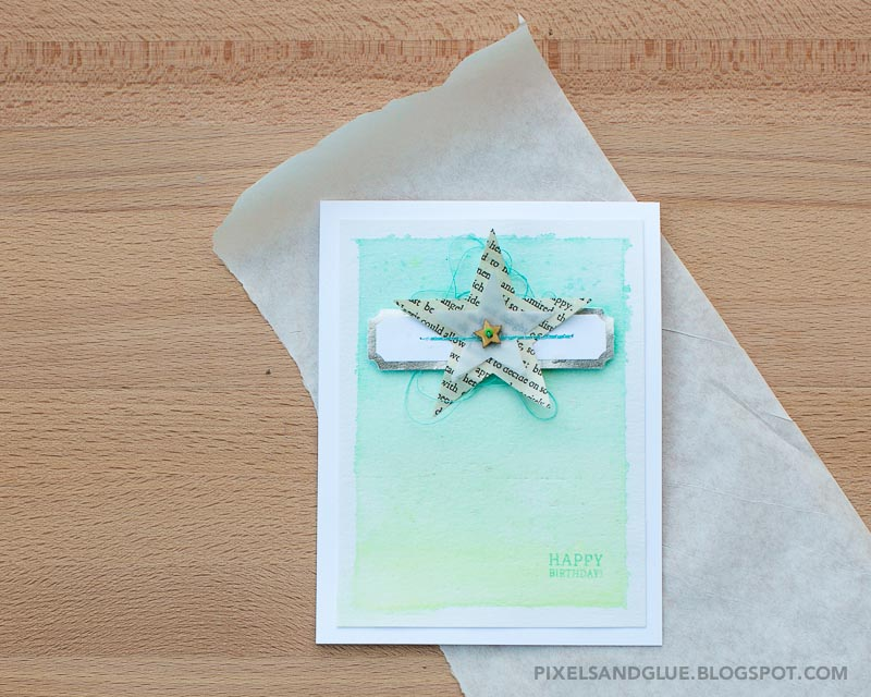 Watercolor Guy Card by @pixnglue (Step-by-Step included)