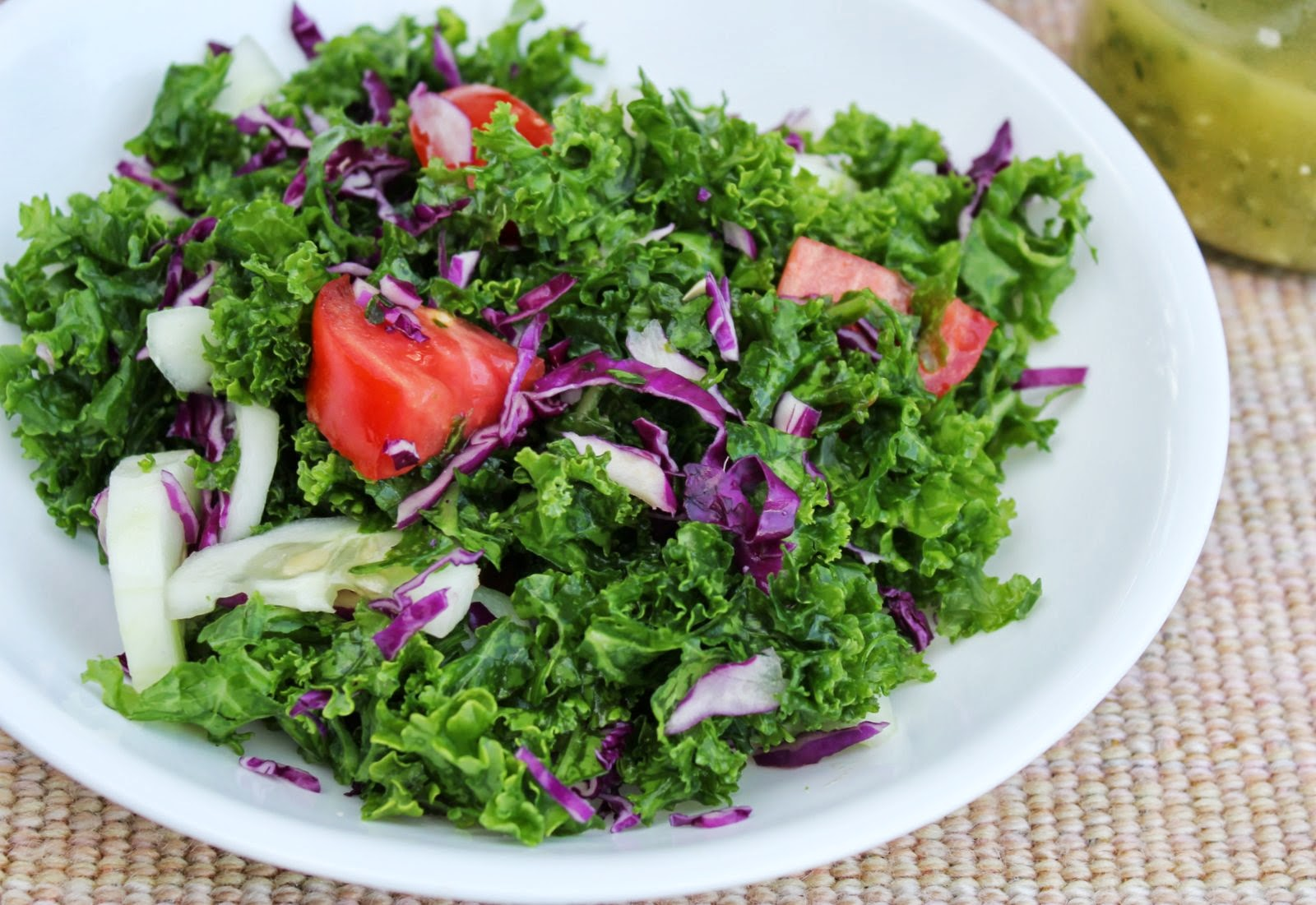 paleo kale salad with cilantro lime salad dressing