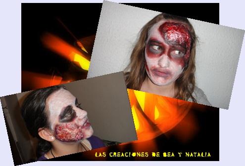 Creacionesbn caras pintadas para halloween for Caras pintadas para halloween
