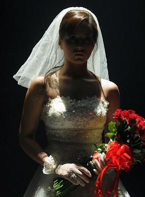 sana khan in wedding dress cute stills