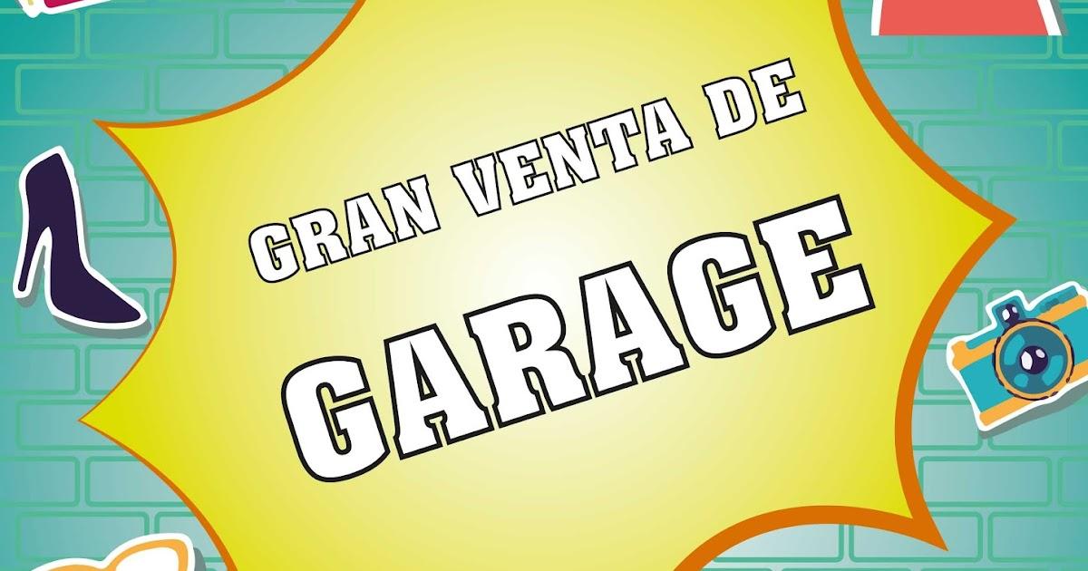 """Soluciones gráficas: Afiche """"Venta de Garage"""""""