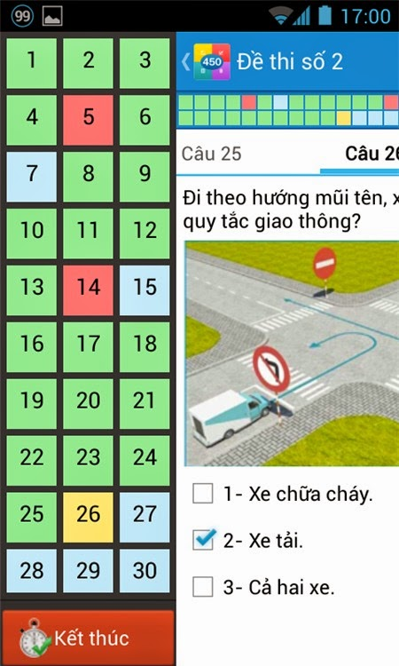 Ôn thi giấy phép lái xe trên Android