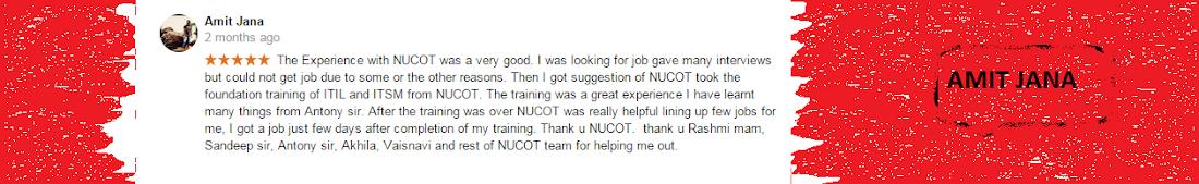 Nucot Trainees Testimonial - Amit Jana