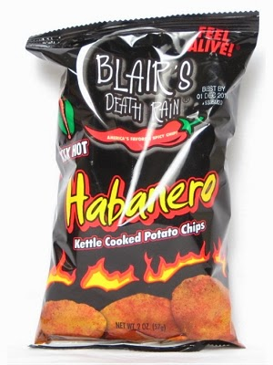 Habanero potato chips