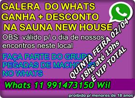 SURUBÃO DO PEGADAS DE MACHOS NA SAUNA NEW HOUSE QUINTA FEIRA 02/04 veja como entrar VIP