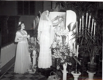 May crowning from 1950's era
