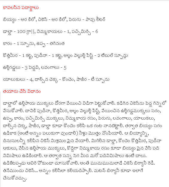 Chicken biryani recipe in telugu indusladies img img ccuart Choice Image