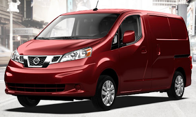 2013 Nissan NV200 red brick