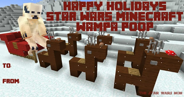 Minecraft Star Wars Holiday Treat Tag - Free Printable