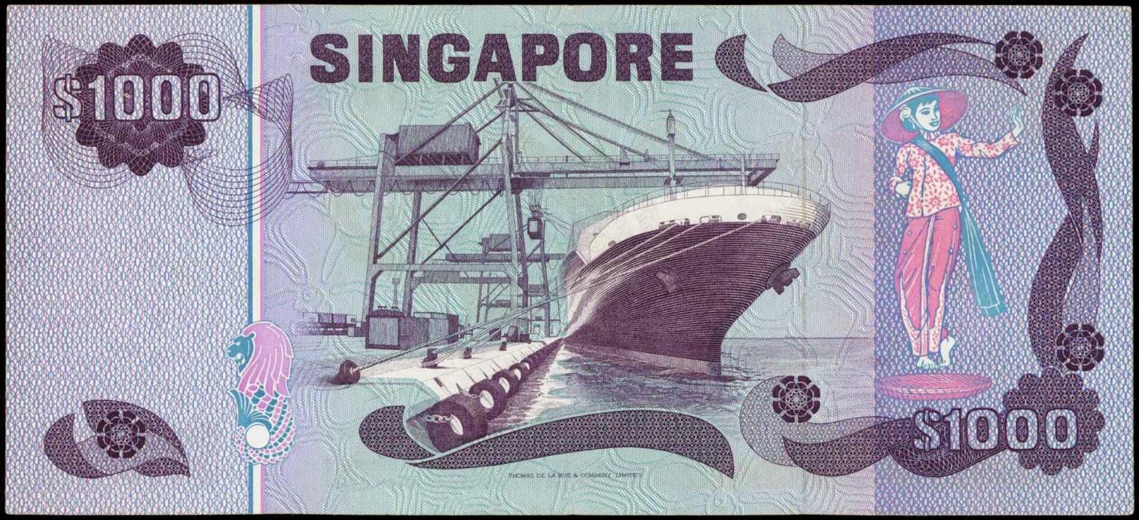 Singapore 1000 Dollar note Bird Series