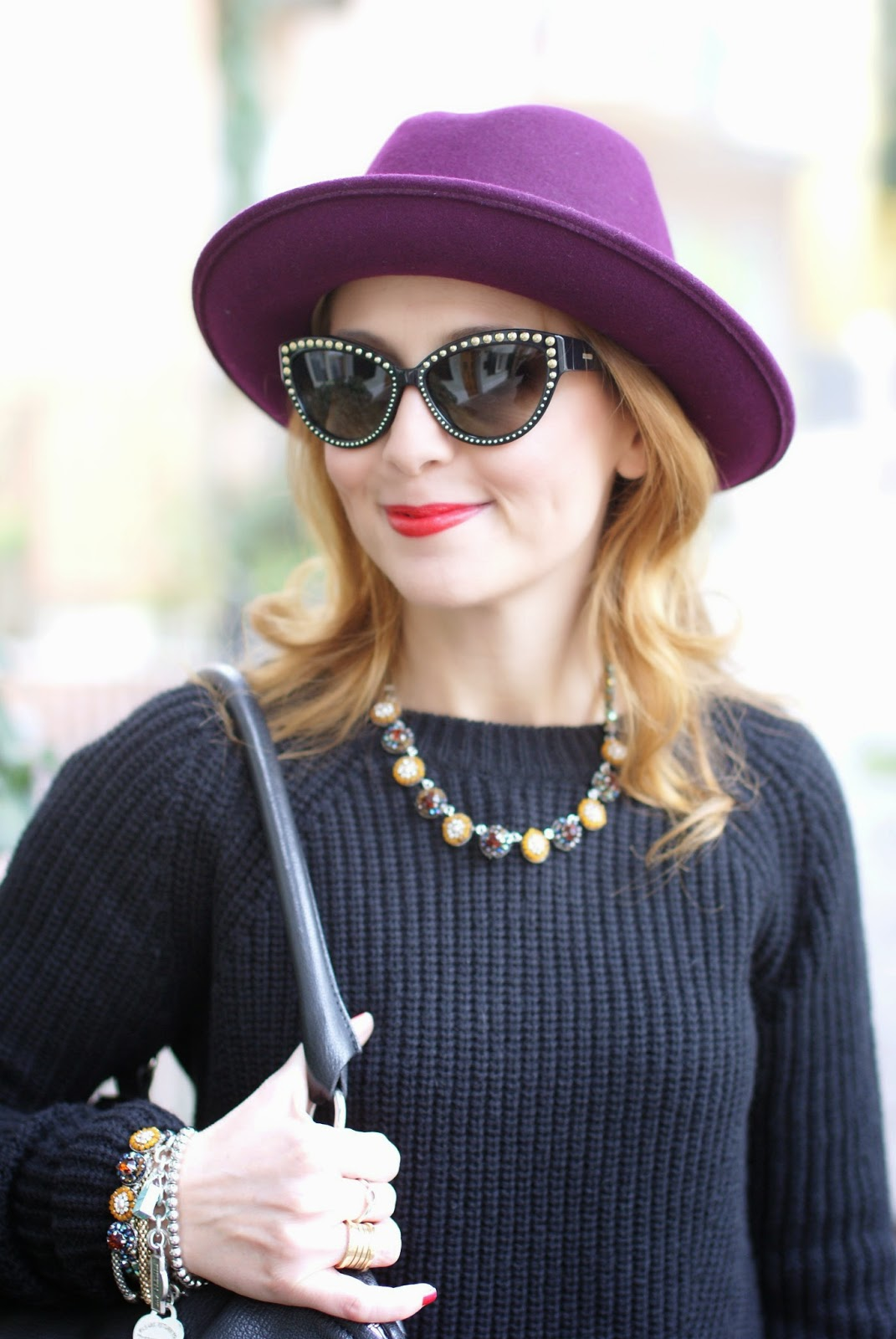 ribbed knit sweater, Sodini collana, Givenchy Pandora bag, Ecua-Andino hat, Fashion and Cookies, fashion blogger