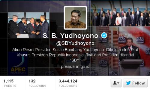 Akun Twitter Asli Presiden SBY @SBYudhoyono