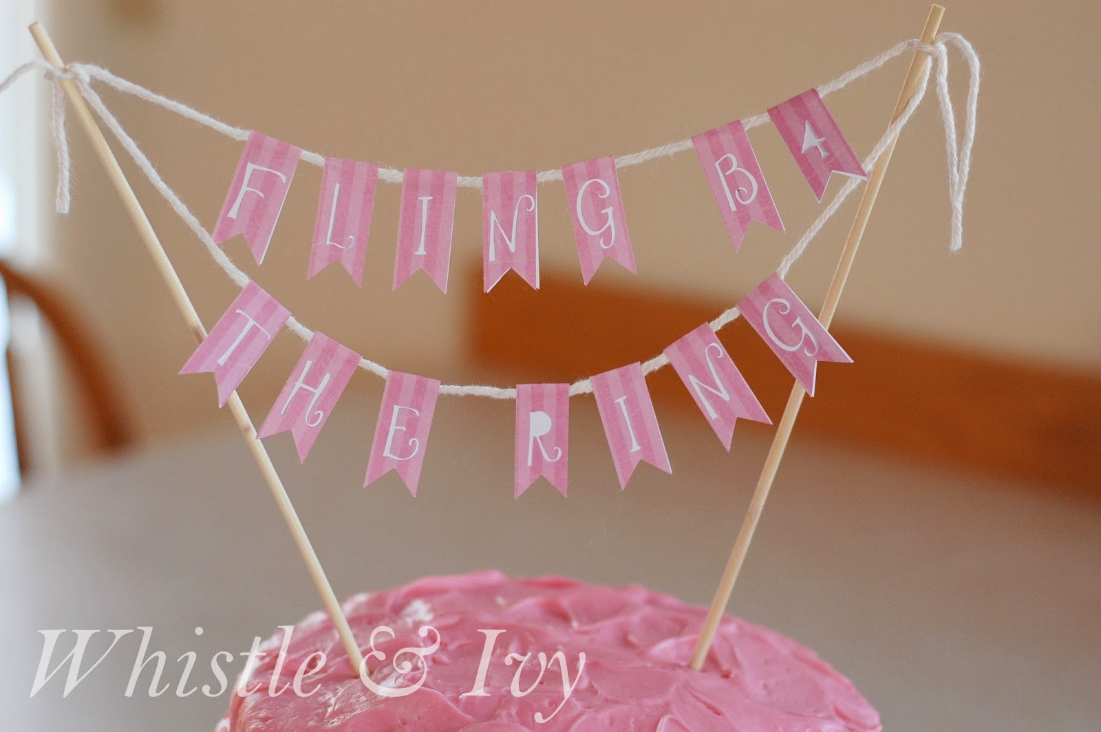 hombre cake easy cake topper banner with silhouette fling before the ring