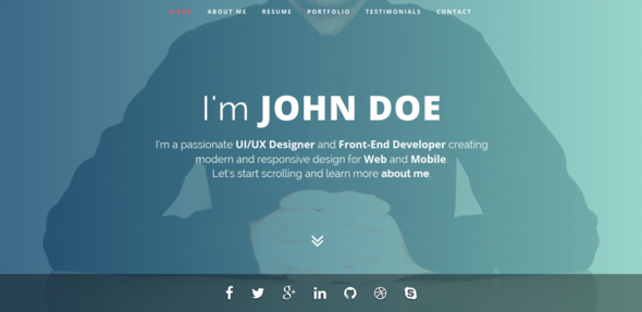 Best Responsive Resume Template