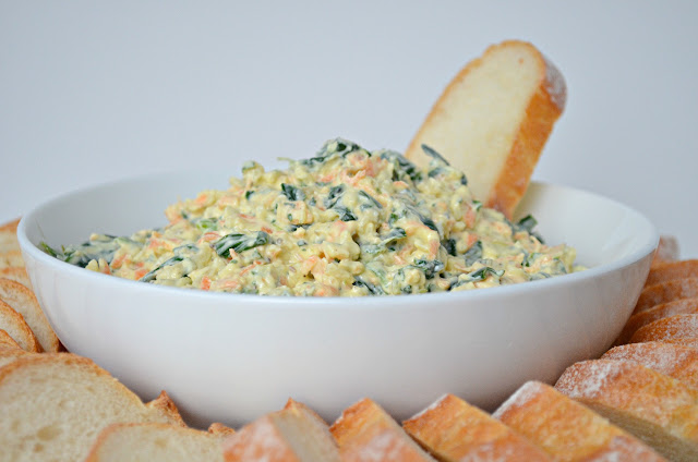 Spinach Dip From Scratch is great for any kind of gathering or barbecue.