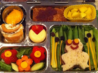 Awesome bento-style kid's lunch.