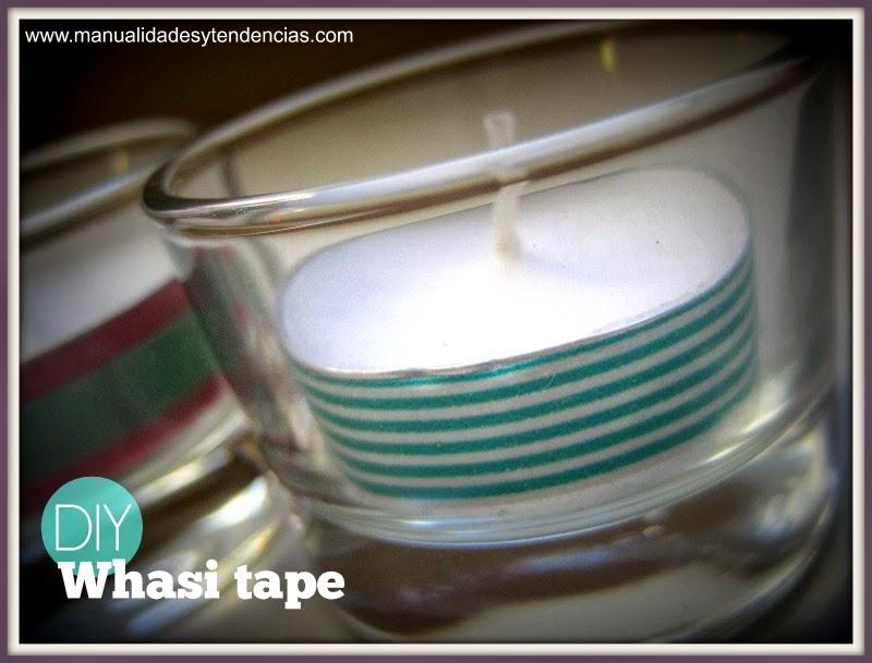 Portavelas decorados con washi tape / washi tape candleholders