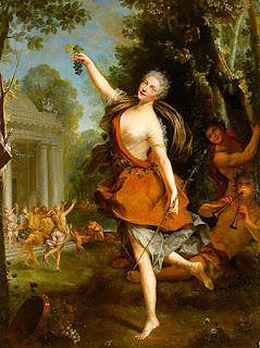 Mademoiselle Prévost as a Bacchante by Jean Raoux, c. 1723, Musée des Beaux-Arts de Tours