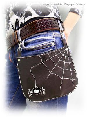 кожаная сумка с аппликацией своими руками