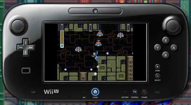Image of Mega Man X being played on the Wii U GamePad