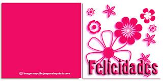 Felicitaciones con flores para imprimir