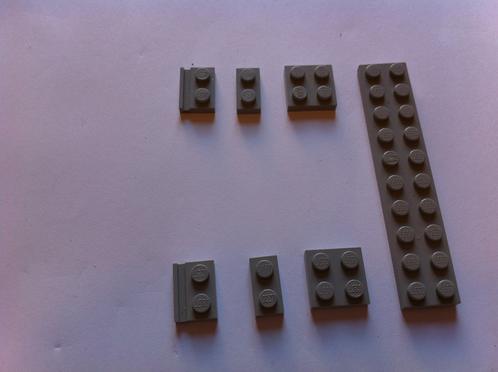 NEW x10 Lego Black Plate Modified 2 x 2 with Hole NXT