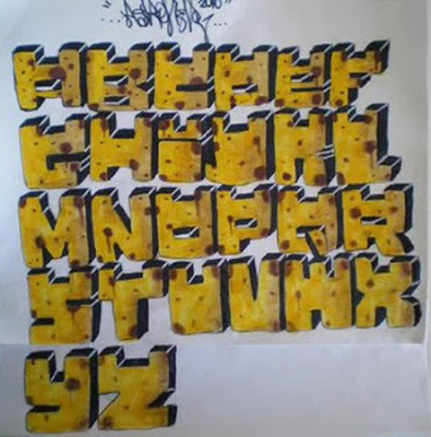 graffiti alphabet letter box style
