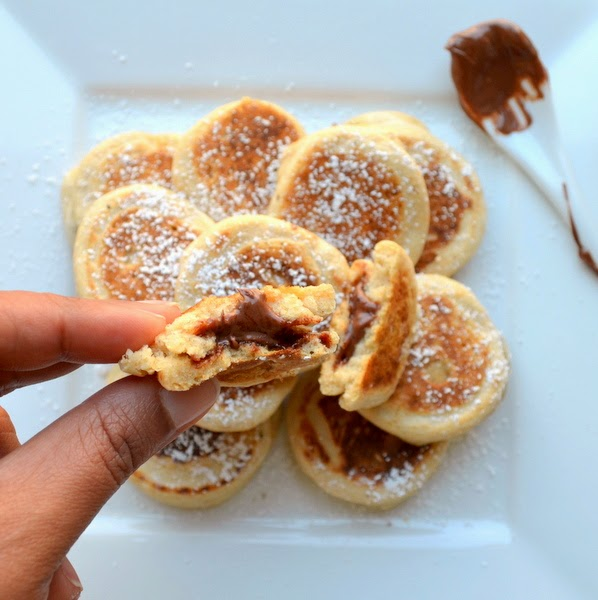 Happily Spiced: Nutella Filled Pancakes