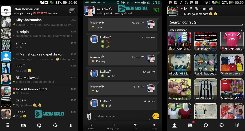 bbm tema hitam putih terbaik BBM BlackRevolutions v2 Apk Android