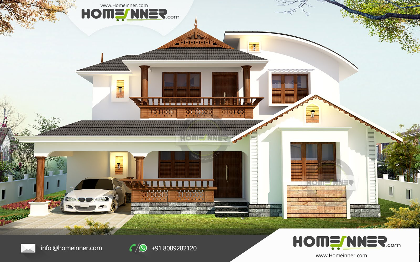 Kerala style duplex house plans traditional home design in for Kerala traditional home plans with photos