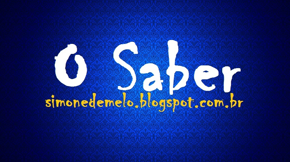O SABER - Simone de Melo