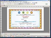 Modul Teknik Pembuatan Sertifikat secara mudah dengan Microsoft Word