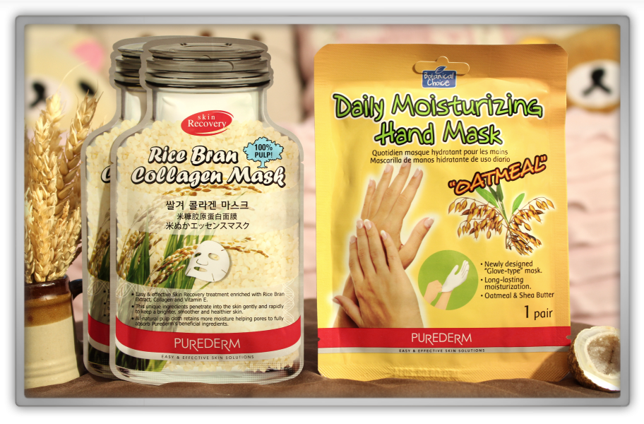 겟잇뷰티박스 by 미미박스 memebox beautybox # special #6 whole grain unboxing review preview box purederm rice bran collagen mask daily moisture hans oatmeal