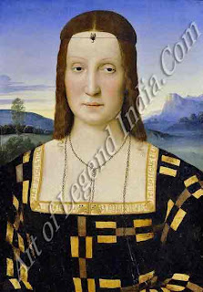 A fitting wife, In 1489 Guidobaldo married Elisabetta Gonzaga of Mantua. As a member of this famous family, who were leading patrons of the arts, she fitted well into the cultured atmosphere of the Urbinese court. Like her mother-in-law, Battista Sforza, Elisabetta was known and respected for her intelligence and personality.