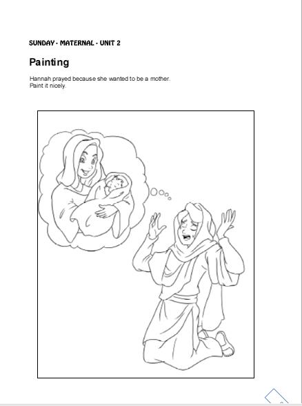 92 Coloring Pages Hannahs Prayer