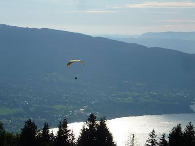 Vue sur le lac d'Annecy depuis le chalet de l'Aulp