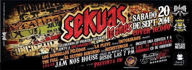 Posterf SEKUAS, 10 AÑOS