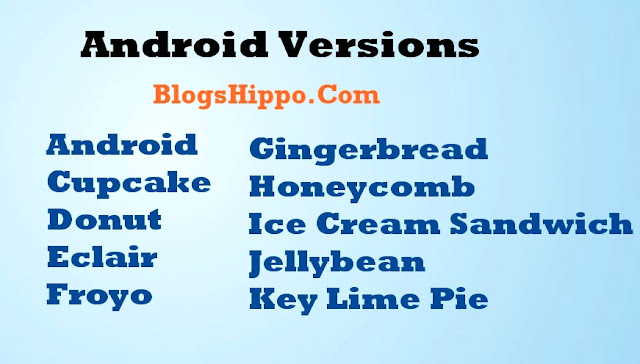 android version name list