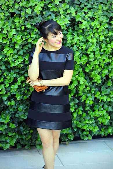 Zara Black Combined Striped Dress