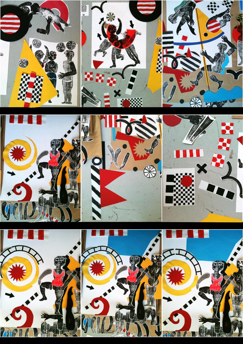 cirque - travail d'atelier de Brigitte Rio