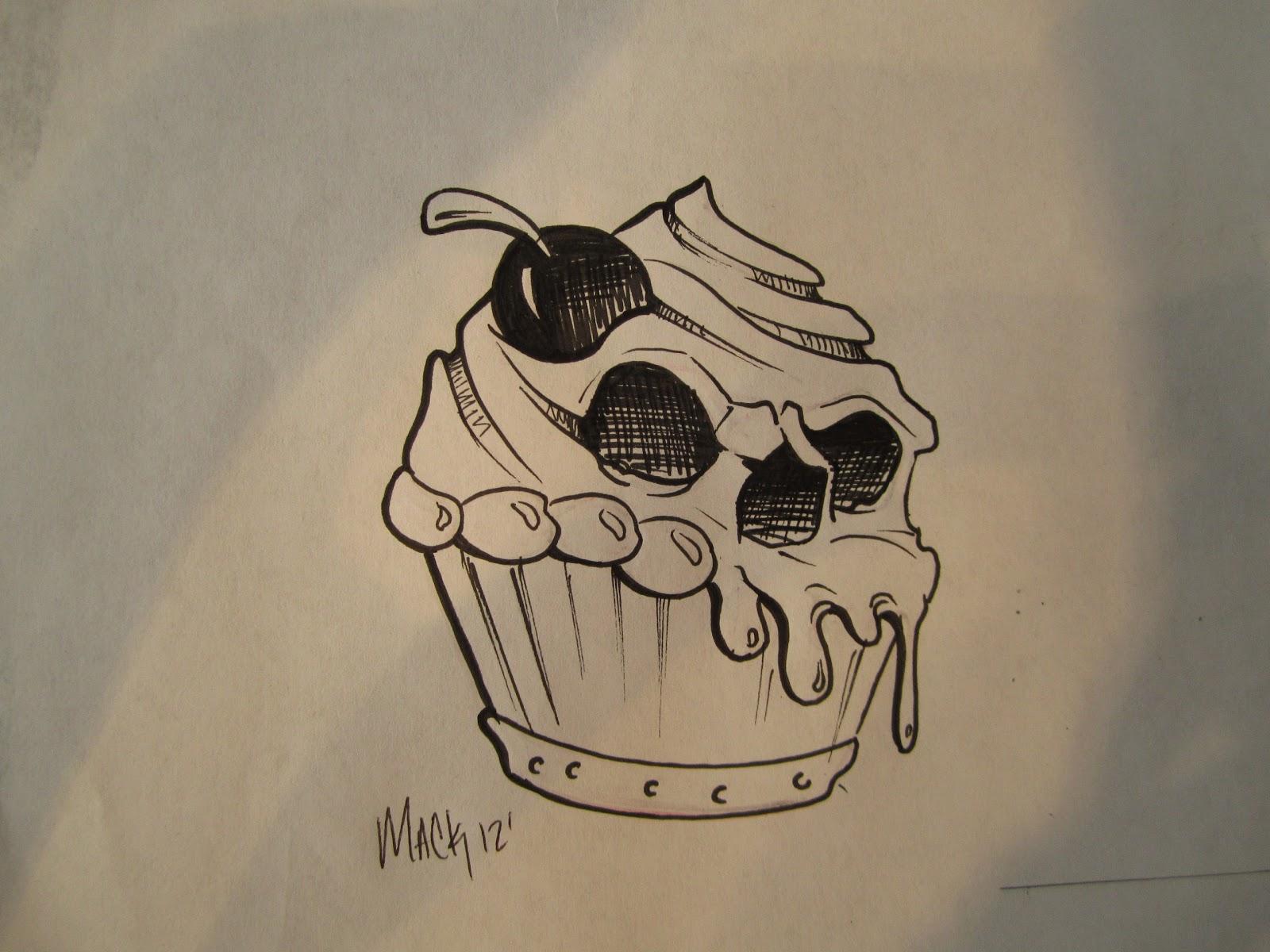 Cupcake Skull