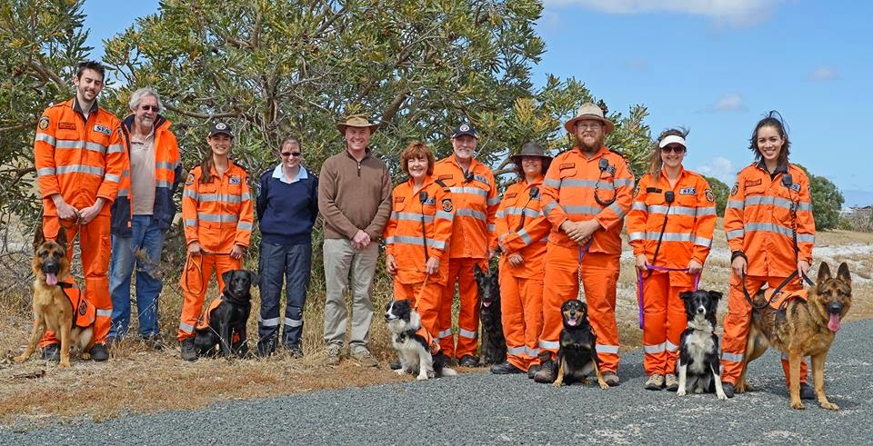 The Canine Section with the WA DFES Commissioner