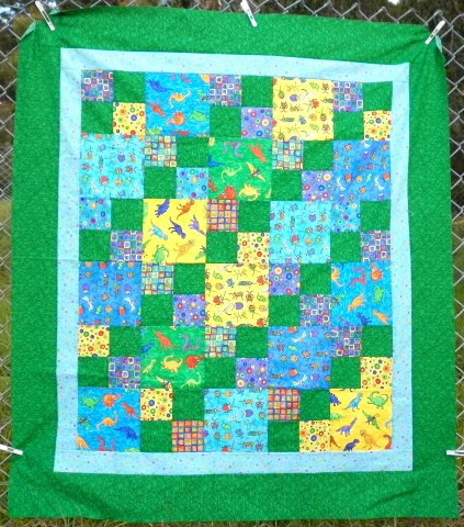 Dinosaur Applique Quilt Blocks, Patterns with Templates