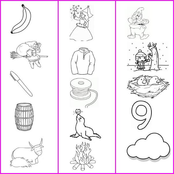 Studiamando liberamente disegni da colorare di parole che for Sillabe da stampare e ritagliare