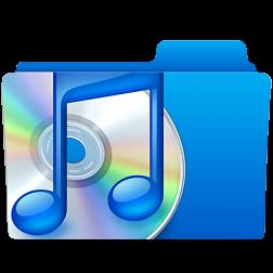 Иконка папки с музыкальными файлами