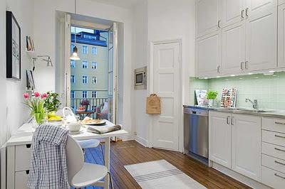 cocina apartamento sueco