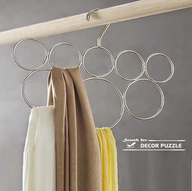 scarf hangers, scarves display ideas