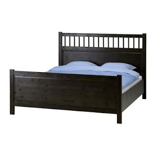 IKEA Hemnes bed in black-brown