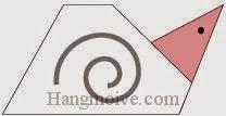 Bước 9: Hoàn thành cách xếp con ốc bằng giấy origami đơn giản.